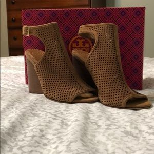 Tory Burch Jesse Perforated Open Toe Bootie